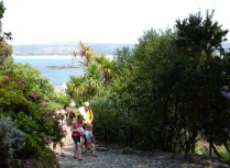 The beginning of the climb up to the castle