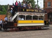 Open top tram