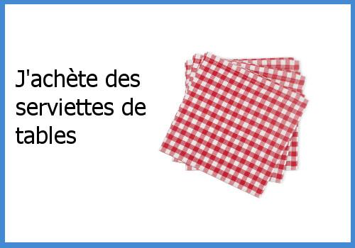 serviettes de tables en tissu. faire des économies avec les objets réutilisables