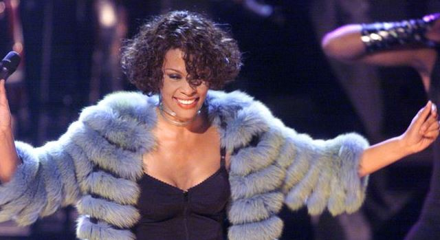 , whitney houston at sultan of brunie concert