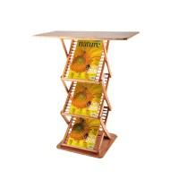 A3 Bamboo Brochure Stand