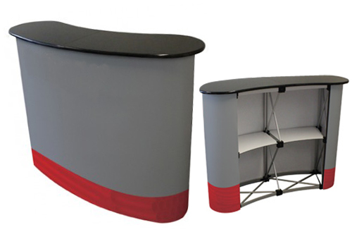 Portable Exhibition Table : Pop up display backdrop millioncolour