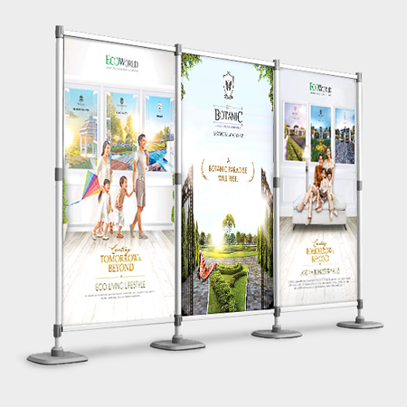 Folding Panel Display MillionColour Advertising