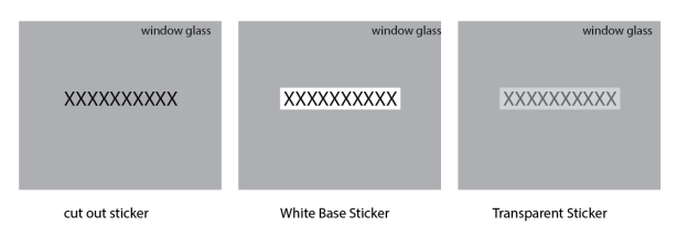 sticker cutting option