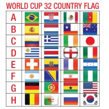 worldcup country flag bendera