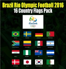Brazil Rio Olympic Football 2016 Flag Bendera