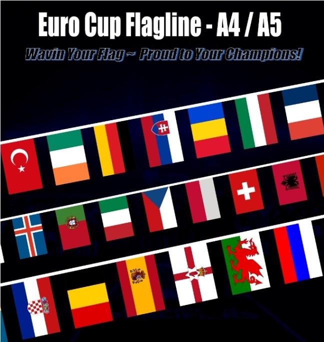 euro 2016 flag bunting banner flaglines bendera