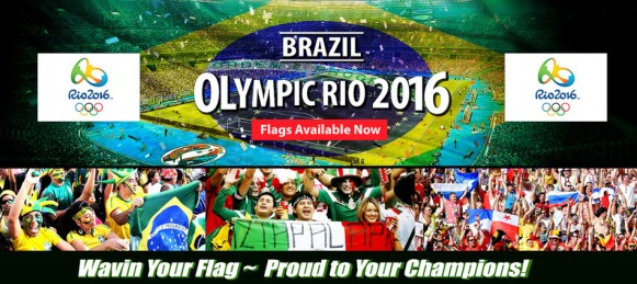 brazil rio olympic 2016 flag sale