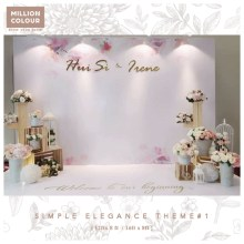 Elegance Graceful Wedding Backdrop Rent Malaysia