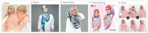 Tudung Cetak Malaysia Fabric Printing