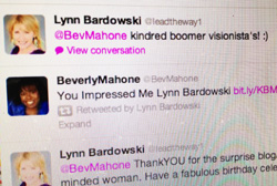 Lynn and Bev's tweets
