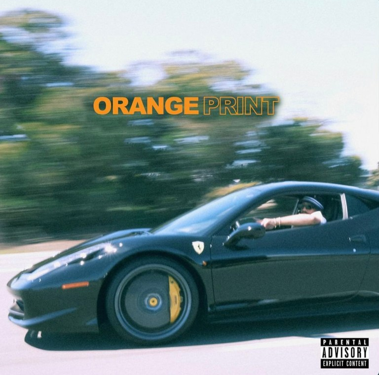 """Album cover for """"Orange Print"""" by Larry June mastered by engineer Nicolas de Porcel at Million Dollar Snare."""