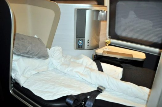 British Airways First Class Review - Bed