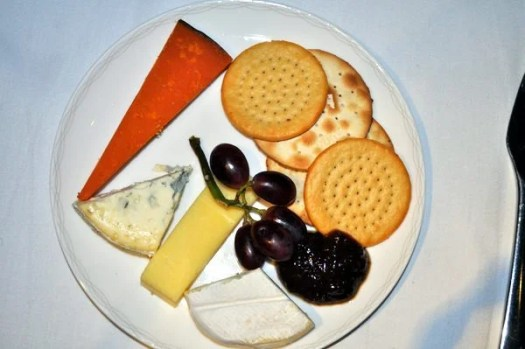 British Airways First Class Review - Cheese