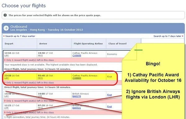 Cathay Pacific Award