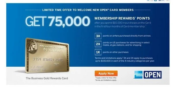 75,000 Membership Rewards Points With the AMEX Business Gold Card (Up to March 14, 2013) [EXPIRED]