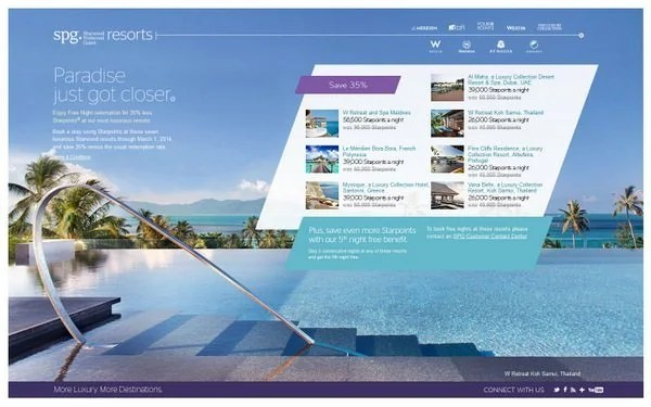 News You Can Use – 35% Off Starwood Luxury Collection Hotels & 1,000 United Miles per Night with Hilton Stay