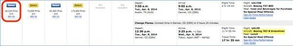 Hurry United Award Flight Sale To Japan Book By April 17, 2014
