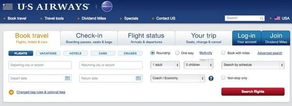 How To Book Barclays US Airways Companion Certificate Tickets