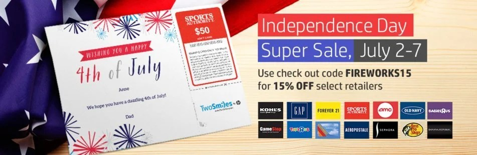 15% Off Southwest Gift Cards Through July 7, 2014!