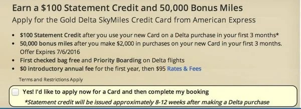 Better Offer for the Gold Delta AMEX!