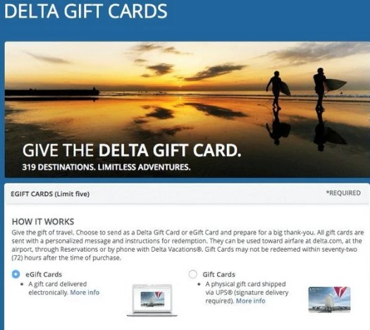 Do Gift Cards Qualify For The AMEX Offer To Save 20 Off A Delta Purchase