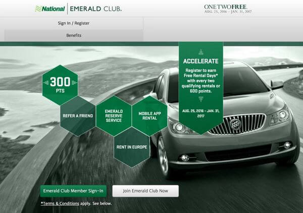 Earn 1 Free Car Rental Day For Every 2 Qualifying Rentals At National Car Rental