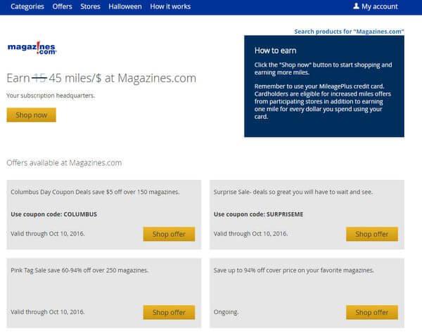 Won't Last: 45 United Airlines Miles per $1 Buying Magazines
