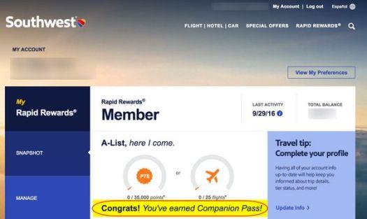 Southwest Companion Pass Marriott Points