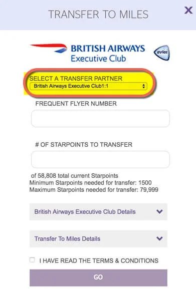Step By Step How And Why To Transfer Starwood Points To British Airways For Big Travel