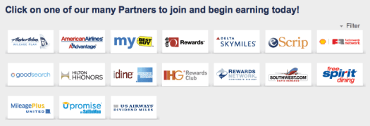 Register Your Credit Card and Automatically Earn Points at 1 Partner of Your Choice