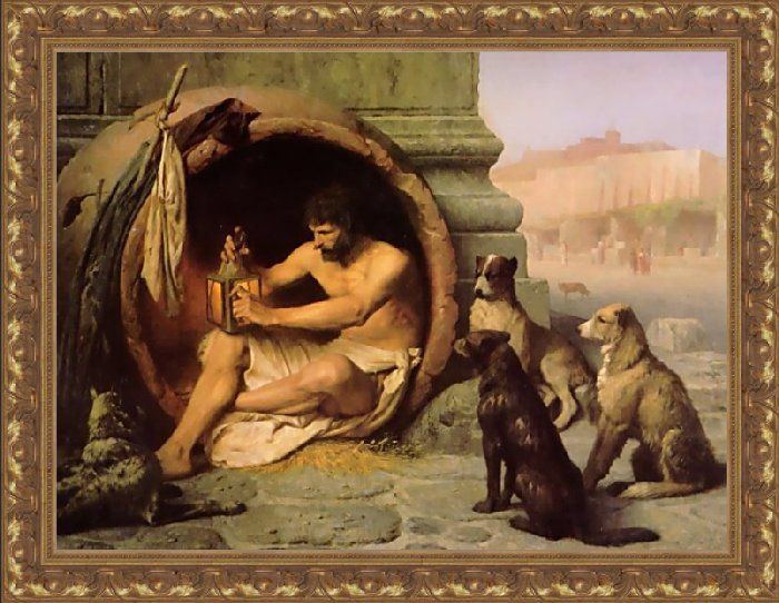 Image result for diogenes the dog