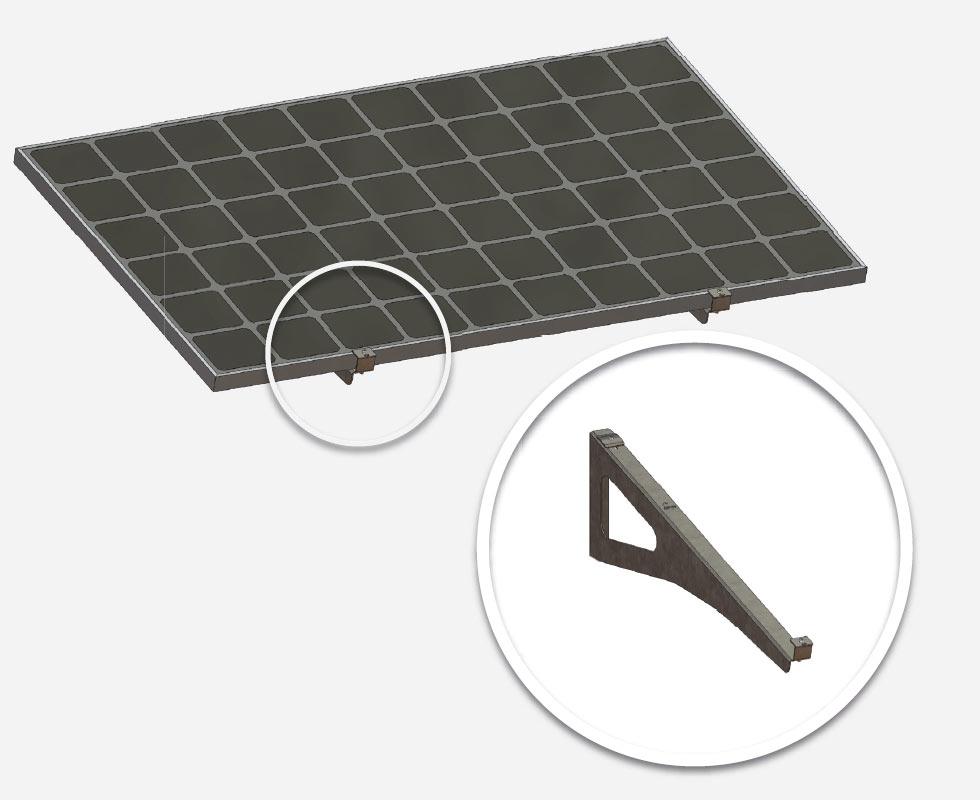 Brise soleil IRFTS fixations panneaux solaires