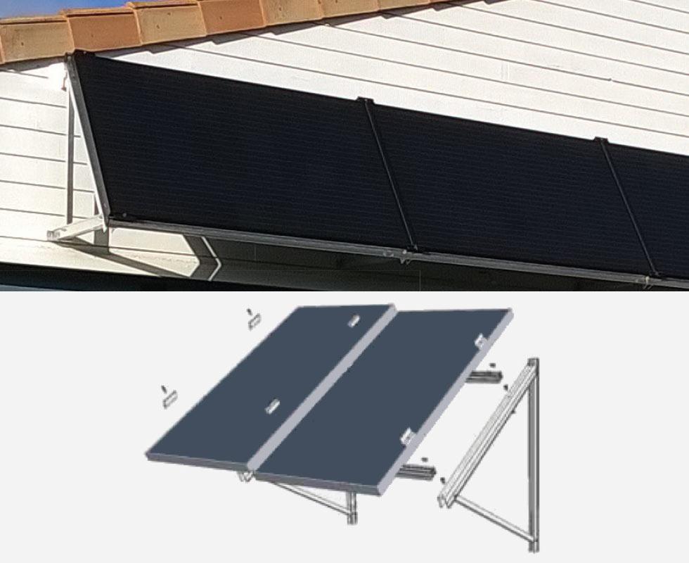 Fixation panneau solaire façade