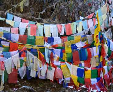 Buddhist Prayer Flags, Bhutan