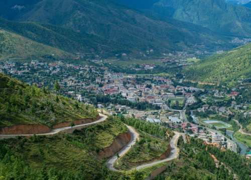 Thimphu from above, Bhutan