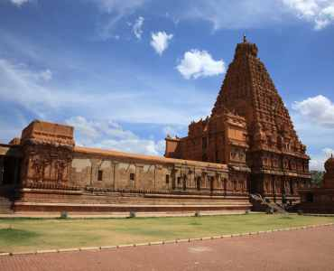 Brihadeeswarar Temple in Thanjavur, Tamil Nadu, India. One of the world heritage sites
