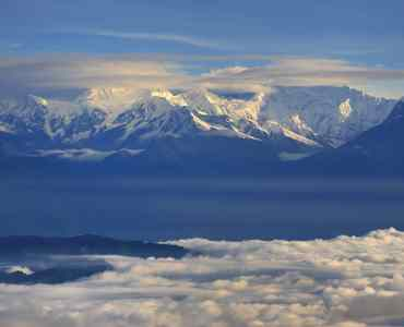 Sikkim and Mt. Kangchenjunga and Himalayan mountains, Darjeeling, India