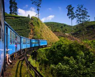 Train from Kandy to Tea Country Hills, Sri Lanka