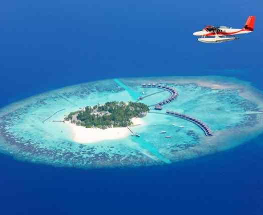 Sea Plane in Maldives