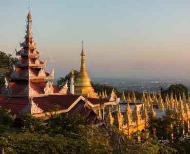 Mandalay Hill at Sunset, Burma