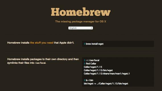 Macのツールを楽にインストールできるパッケージ管理システムHomebrewの使い方