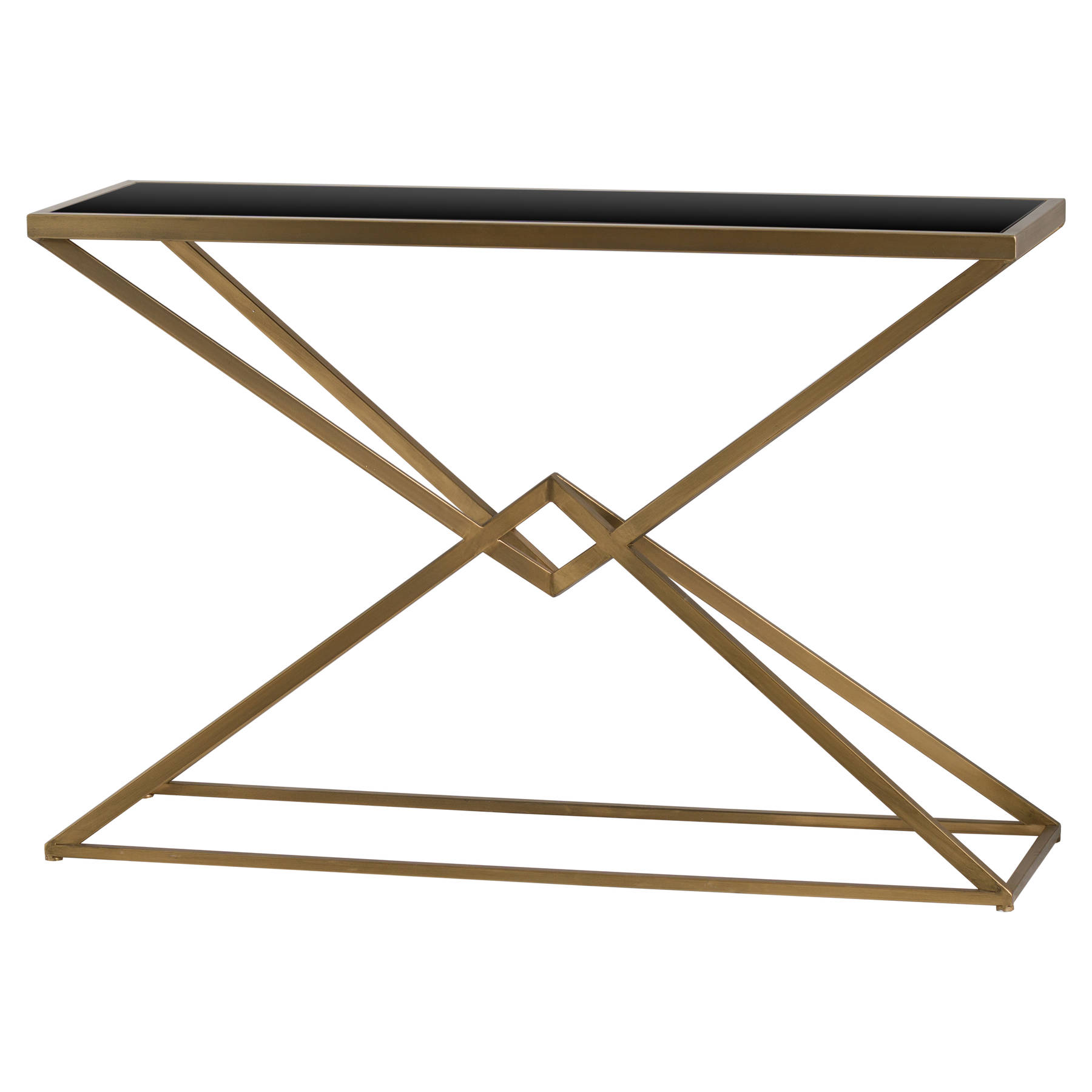 antique gold black glass art deco style metal console side table mh19709 ready to buy