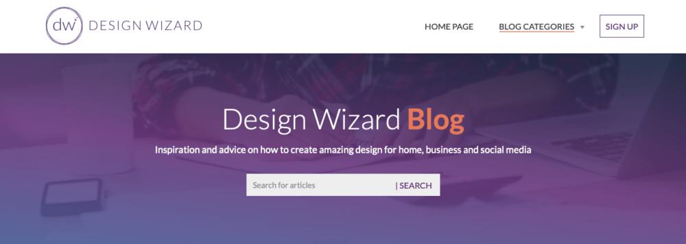 graphic design blogs - design wizard
