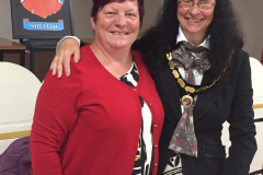 2018 May - The new Mayor of Millom for 2018/19 Cllr Jane Mickelthwaite, pictured with Deputy Mayor 2018/19 Cllr Angela Dixon