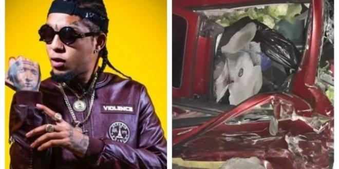 Lamenteble: El artista urbano Rochy RD, sufrió un aparatoso accidente