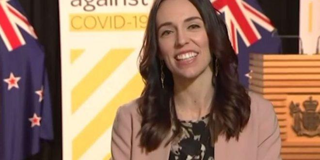 temblor sorprende a primera ministra de Nueva Zelanda en entrevista