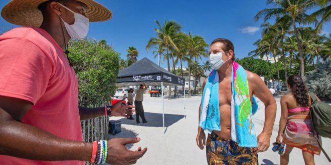 Miami Beach vuelve a imponer multas a quienes no lleven mascarrillas