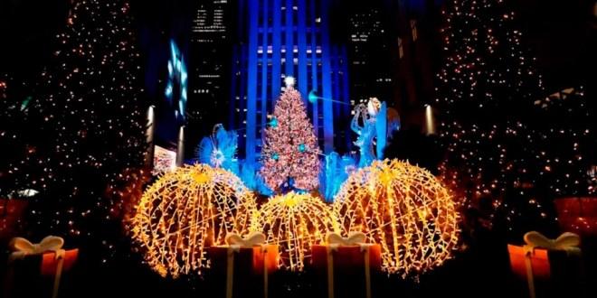 Nueva York: encendido del árbol en Rockefeller Center inició la navidad pandémica