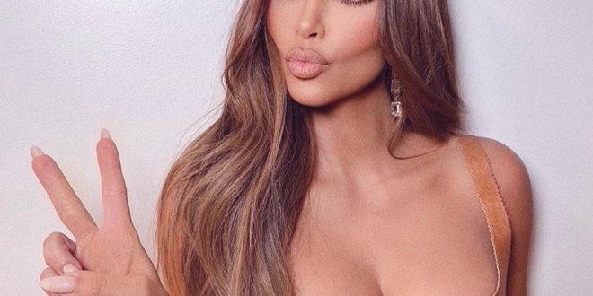 Kim Kardashian con estas fotografías celebró sus 200m de fans en Instagram